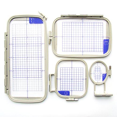 CKPSMS Marca -#Embroidery Hoop-4 Bastidor de bordado compatible con la máquina Brother PE770 PE700 PE700II PE-770 Condition +(Embroidery Hoop-4 1SET)