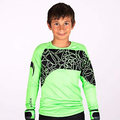 HO Soccer Jersey Furious – Maglietta da Portiere Unisex per Bambini, Unisex - Bambini, 0505058.04, Verde/Nero, 14