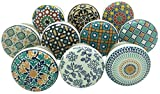 SHWETAIL Positive Energy Vintage Shabby Chic Cupboard Drawer Ceramic Door Knobs Pull Handles