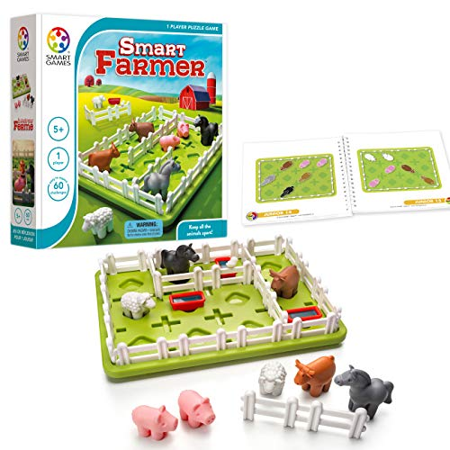 SmartGames Smart Farmer Board Game, a Fun, STEM Focused Cognitive Skill-Building Brain Game and Puzzle Game for Ages 5 and Up