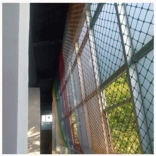 MUZILIZIYU Seguridad Red Balcón Protección Red de Seguridad, Escaleras Infantiles Balcón Anti-Fall Net, Color Nylon Red Red Red Bar Bar Decoración Net, Suspensión Puente Protección Net, Malla Spacin