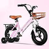 ZLI Bicicletas Infantiles Bicicleta Infantil 12/14/16/18 Inch Neumático Rosa, Bicicletas para Niños Pequeños/Estudiantes/Niñas con Ruedas de Entrenamiento, para Niños de 2 a 12 Años (Size : 16inch)