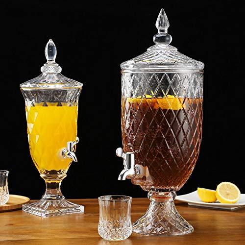 Glazen dranktoevoer met ABS spigot op glas stand - decoratieve Mason Jar Dispenser voor Sun Tee, ijsthee of comboek A~