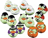 Fun Express Vinyl Mini Glow-in-the-Dark Rubber Ducks   2-Pack (48 Count)   Great for Halloween-Themed Party