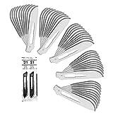 50 piezas Hojas de bisturi 21 - recambio cuchillas - cuchillas escalpelo para mango de bisturí número 4 - acero carbón, estériles