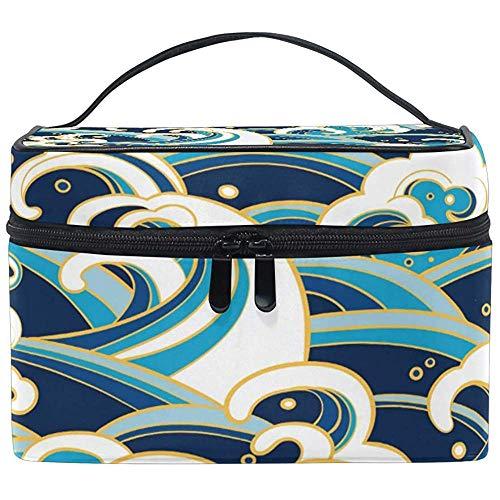 Reis make-up tas kleurrijke zeegolven toiletartikelen make-up tas draagtas organizer opslag voor vrouwen meisjes