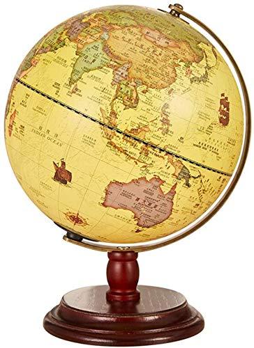 MKKSLR Wunderschön 12,6 Zoll Antike Globus Tischlampe, HD Beleuchtete Erde Globus Dekorative Ornamente Mit Karte Lupe Für Kinder Geschenk
