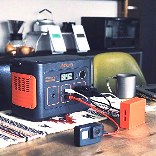 Jackeryポータブル電源400大容量112200mAh/400Wh家庭アウトドア両用バックアップ電源PSE認証済純正弦波AC(200W瞬間最大400W)/DC/USB出力四つの充電方法MPPT制御方式車中泊キャンプアウトドア防災グッズ停電時に非常用電源ソーラー充電環境にやさしい省電力24ヶ月保証