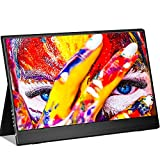 Portable Monitor 15.6 wowatt Portable Computer Monitor 1920x1080 FHD IPS Screen USB C Gaming Monitor with Type-C Mini HDMI for Laptop PC MAC Phone Xbox PS4 Ultra Thin w/Smart Cover Eye Care Screen