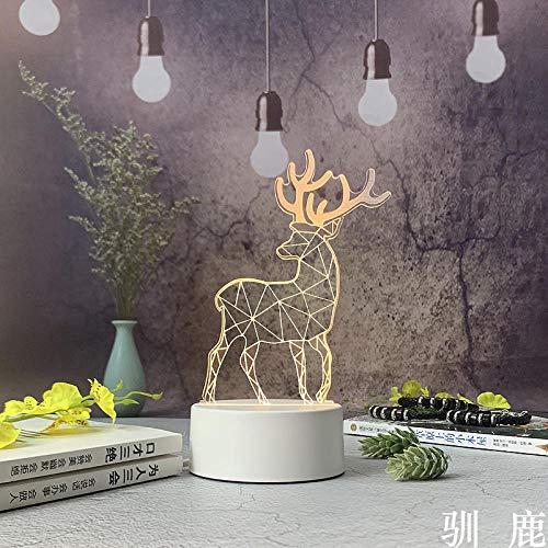 Creatieve geschenken 3D nachtlicht decoratie LED tafellamp USB klein paar verjaardagscadeau