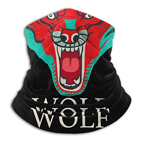 2695 Wolf Dreams - Pasamontañas multifuncional con diseño de cara de lobo 3D, unisex, sin costuras, turbante al aire libre, resistente a los rayos UV