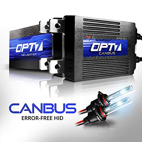 OPT7 Boltzen AC CANbus H10 9140 9145 HID Kit - 5X Brighter - 6X Longer Life - All Bulb Sizes and Colors - 2 Yr Warranty [8000K Ice Blue Xenon Light]