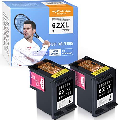 MyCartridge PHOEVER Cartuchos de tinta para HP 62 XL, color negro, 62 XL, para HP Envy 5540, 5545, 5548, 5640, 7640, HP OfficeJet 250, 200, 5740, 5742