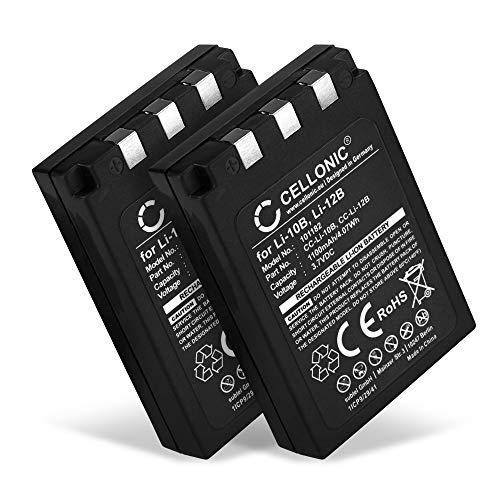 CELLONIC 2X Kamera Ersatzakku LI-10B LI-12B für Olympus C-770 C-765 Ultra Zoom C-760 C-50 Zoom C-60 C-70 C-5000 C-7000 FE-200 Stylus 300, Ersatz Akku 1100mAh Kameraakku Zusatzakku Battery