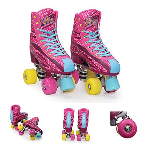 Byox Rollschuhe Nina pink, PU-Rollen, ABEC-5 Lager, Stopper, Verschiedene Größen, Größen:Gr. 38-39