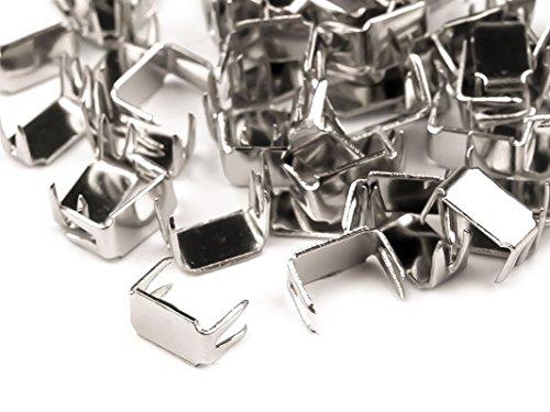 Reißverschluss Endstücke in 5mm verschiedenen Mengen Reißverschlüsse Stopper, Farbe:Silber | 150 Stück