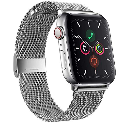 SSEIHI Correa Compatible con Dispositivos Apple Watch 38mm 40mm 42mm 44mm,La Pulsera Loop es una Malla de Acero Inoxidable Correa al ser magnética para iWatch Series 6/SE/5/4/3/2/1, Sport, Edition