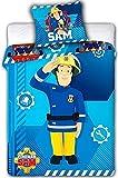 Feuerwehrmann Sam 008 Kinderbettwäsche Fireman Sam Babybettwäsche 100x135 cm