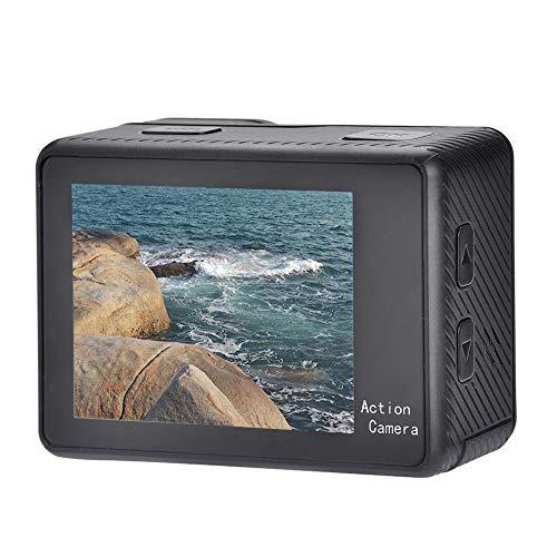 FastUU 4K1080P Action-Kamera, WiFi Sport Ultra HD Dv Camcorder Poratble Nachtsicht Mobile Dv wasserdichte Kamera Webcam, mit Doppelbildschirm Touchscreen, 720P WiFi Steuerung, 130 ° Weitwinkel