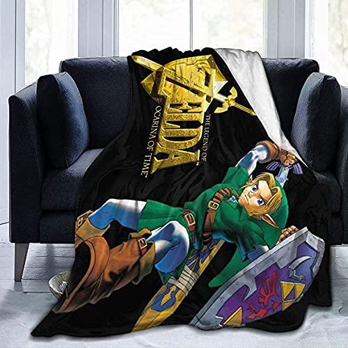 Legend of Zelda Skyward Sword Link Ultra-Made in UK Micro-Fleece-Decke, Überwurf, super hergestellt in Großbritannien, Anti-Pilling, leicht, Sofa, Bett, Couch, Wohnzimmer, 127 x 101,6 cm