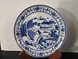 Baum Bros. Formalities Blue & White Decorative Plate