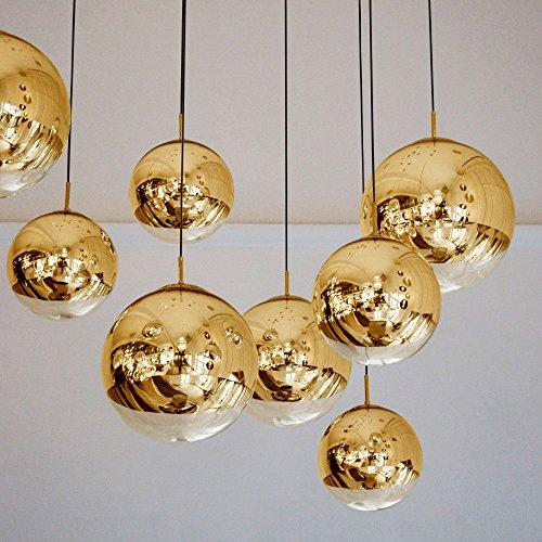 s.LUCE Pendelleuchte Spiegelkugel Fairy Ø 40cm Goldfarben Hängeleuchte, Hängelampe Pendellampe gold verspiegelt