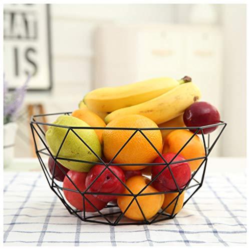 Panier à fruits Fruit Assiette En Métal Artisanat Fer Forgé Bol À Bonbons Plateau Maison Créative Maison Salon Bureau Snack Panier De Fruits -0 (Couleur : B)
