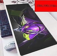 ゲーミングマウスマットラージマウスマットゲーマーマウスパッドLargesize - ステッチエッジ - PCコンピュータのキーボードマウスゲームアニメマット用ノンスリップキーボードマウスマットマウスパッド (Color : B)
