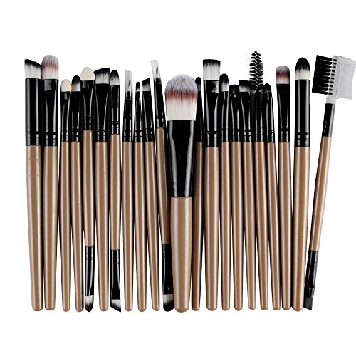 EUCoo Makeup Brushes Professional 22PCS Set Premium Synthetic Foundation Brush Blending Face Powder Eye Cosmetics