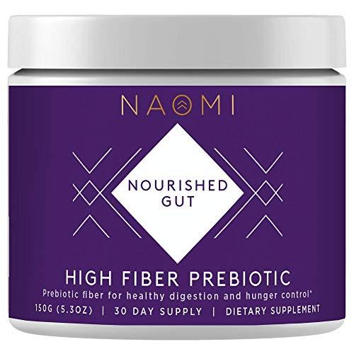 NAOMI High Fiber Prebiotic Fiber Supplement for Healthy Women Probiotics, Sugar Free Fiber Powder Supplement That Promotes Gut Health, Digestive Health and Regularity - 30 Servings