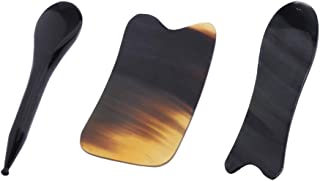IPOTCH Natural Gua Sha Board for Skincare, Anti-Aging Anti-Wrinkles, Lifting Your Face and Lymphatic Drainage (Pack Of 3 Pieces)