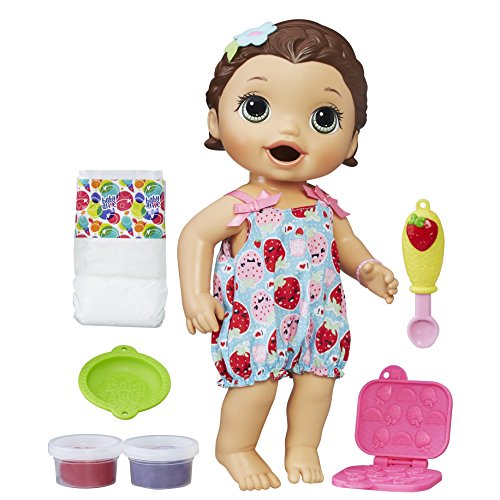 Boneca Baby Alive Lanchinhos Divertidos Hasbro Morena