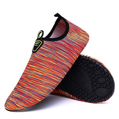 EVFIT Zapatos de Verano Unisex Velocidad Tamaño Fresco Playa Arroyo Zapatos De Playa Surf Yoga Calzado Deportivo Agua Calzado (Color : Red, Size : 41-42)