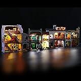 BRIKSMAX Kit de iluminación LED para Lego Harry Potter Diagon Alley, complemento de Juego de Luces LED para Lego Set 75978 , no Incluye Modelo Lego - (Versión de Control Remoto)