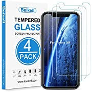 iPhone XR Screen Protector, Beikell [4-Pack] Premium Tempered Glass Screen Protectors for iPhone XR 6.1 inch- 9H Hardness, Anti Scratch, No Bubbles, High Definition, Easy to Apply