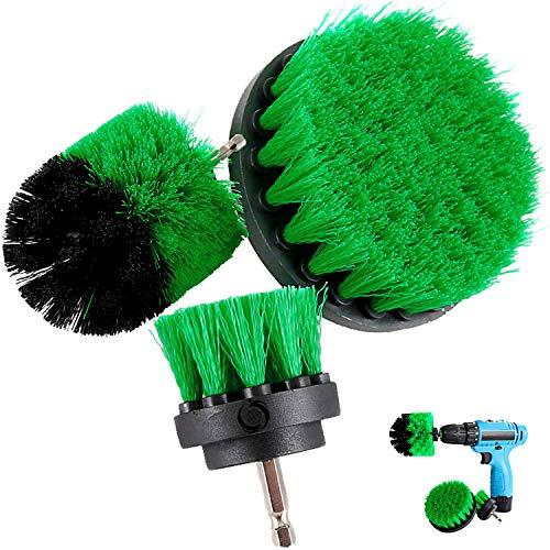 taladro cepillo Attachment Kits, 3 pieza Cepillo de limpieza eléctrico para multiusos,...