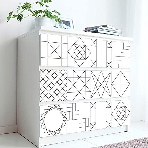 Azulejos Adhesivos Blanco Geométrico NegroVinilosCocinaAzulejosAntisalpicadurasVinilosBañoAzulejosImpermeableVinilosdeparedDecorativosPinturaparaAzulejosAdhesivodePared 15x15cm