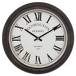 Windy Hill Collection 16 x 16 Vintage Decorative Wall Clock Kensington Station London Roman Numeral WC9-EA180183