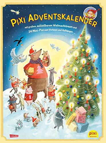 Pixi Adventskalender mit Weihnachtsbaum 2018: mit großem, aufstellbarem Weihnachtsbaum und 24 Mini-Pixi zum Vorlesen und Aufhängen