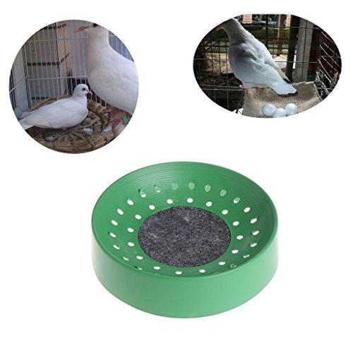 NABIAN Pigeon Bird Nest, Pigeon Supplies Plastic Dehumidification Breeding Bird Basin Nest Bowl Mat
