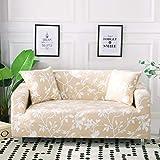 Funda de sofá elástica con Todo Incluido para Sala de Estar Funda de sofá con Estampado Floral Moderno Flexible Fundas para sofá A18 de 4 plazas