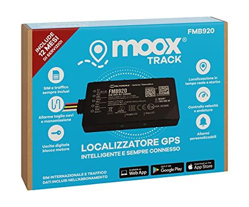 MOOX Track Localizzatore Gps per Auto, Moto, Camion, Barca - App Facile da Usare, Posizione in Tempo...