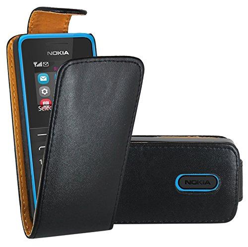 Nokia 105 Case, FoneExpert® Premium Leather Flip Book Case Cover for Nokia 105 / Nokia 105 Dual Sim