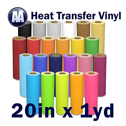 "Heat Transfer Vinyl for T-Shirts 20"" x Yard (Red)"