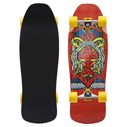 Dogtown Scott Oster Reissue Old Skool Complete Cruiser Skateboard rot 10.125 Inch komplett mit Venture Achsen