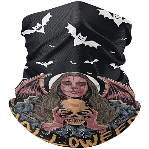 Sjaals voor dames en heren, met doodshoofd, heks, vleermuis, voor outdoorsport, bandana, hoeden, camping, fiets, hoofddoek, 24 x 48 cm