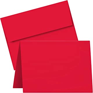 """A7 Red Blank Greeting Cards with Envelopes – Great for Holiday, Christmas and New Year Cards   5"""" x 7"""" (Folded)   25 per Pack"""