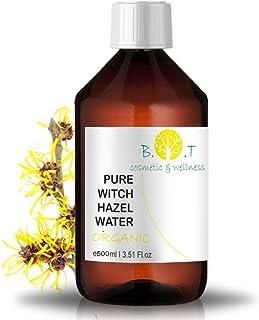 BIO Blütenwasser Organic Hydrolat Hamamelis Gesichtswasser Akne Gegen Poren minimizer Destillierte wasser Vegan kosmetik Witch Hazel Tonikum Hamameliswasser Destillat 500 ml