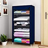 Keekos 6 Layer Fancy and Portable Foldable Collapsible Storage Rack for Kidsand Women Clothes Cabinet,Bedroom Organiser Closet Cabinet
