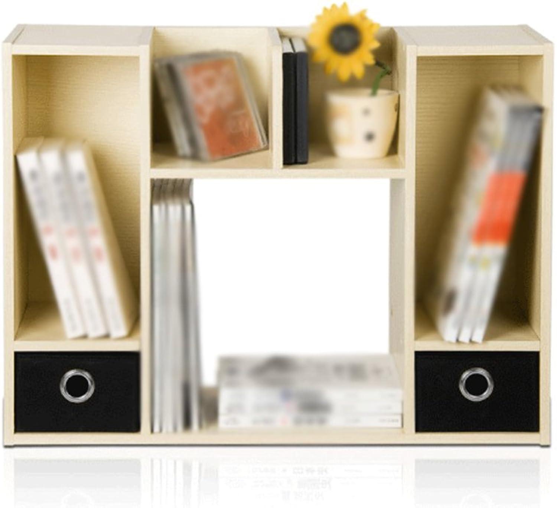Bücherregal Buchständer 64.5 (L)  24 (W) (W) (W)  48 (H) Cm Doppelte Schublade Desktop-Aufbewahrung Fashion Office Bücherregal Weiß Maple Farbe B071XMGZFC | Exquisite Handwerkskunst  4c9bce